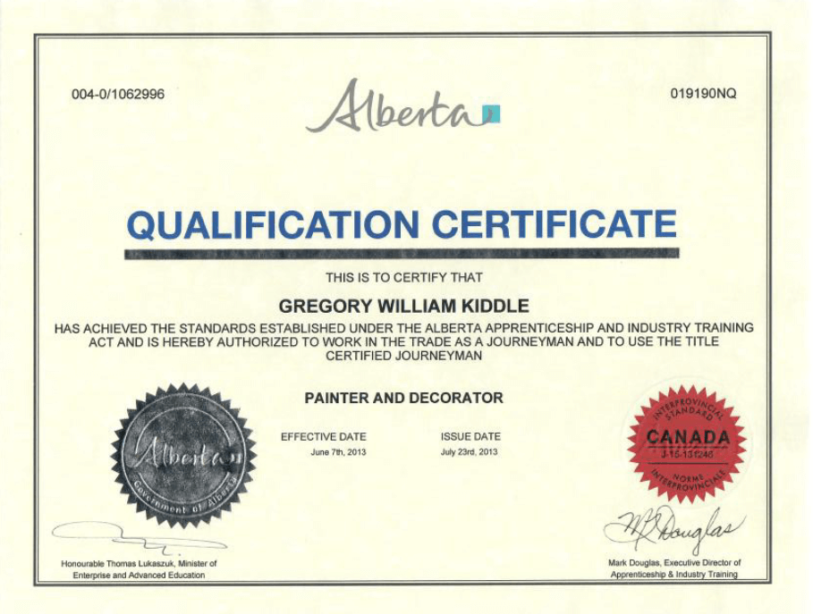 Qualification-certification